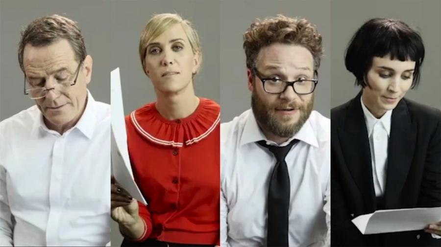 Bryan Cranston, Kristen Wiig, Seth Rogen i Rooney Mara biorą na warsztat Drake\'a