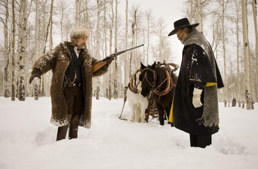 """Samuel L. Jackson i Kurt Russell w filmie """"Nienawistna ósemka"""""""