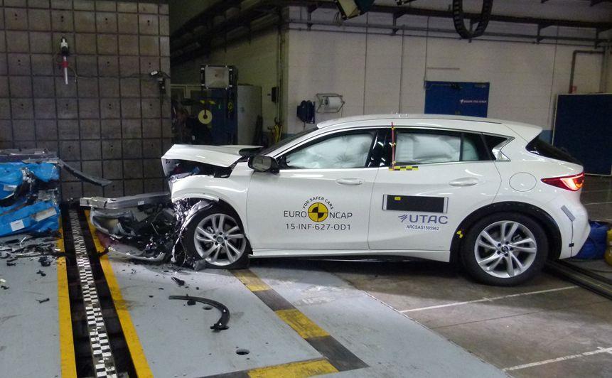 Infiniti Q30 - najbezpieczniejszy mały samochód rodzinny 2015 wg Euro NCAP