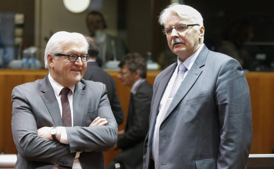 Szef niemieckiego MSZ, Frank-Walter Steinmeier i szef polskiego MSZ, Witold Waszczykowski