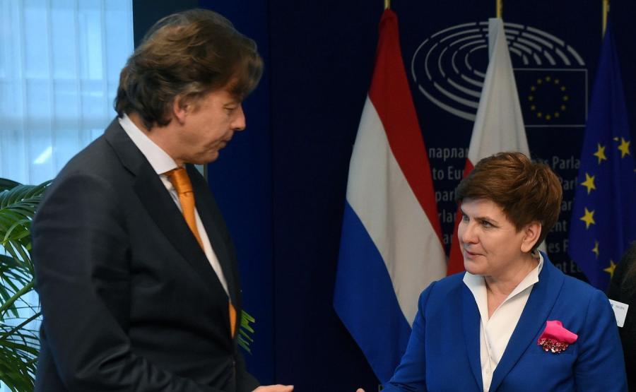 Bert Koenders i Beata Szydło