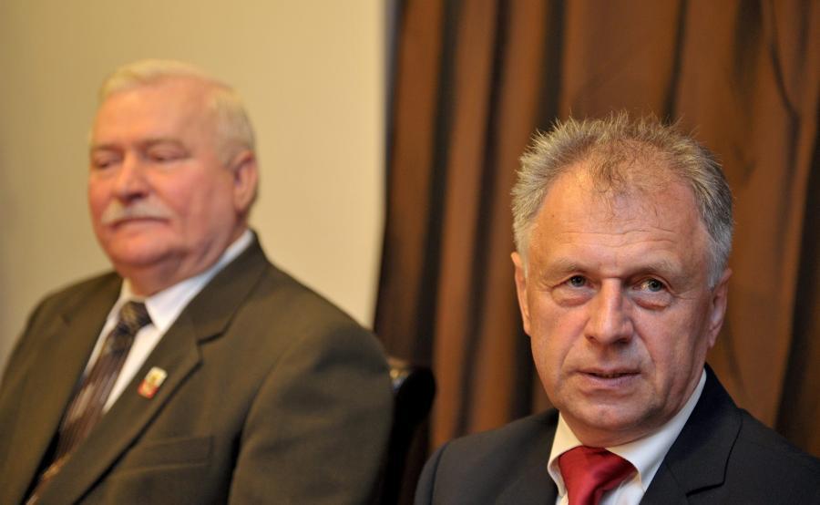 Bogdan Lis i Lech Wałęsa