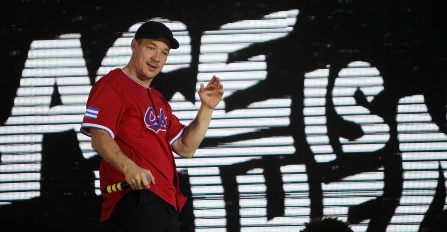 Dj Diplo podczasu koncertu Major Lazer w Hawanie