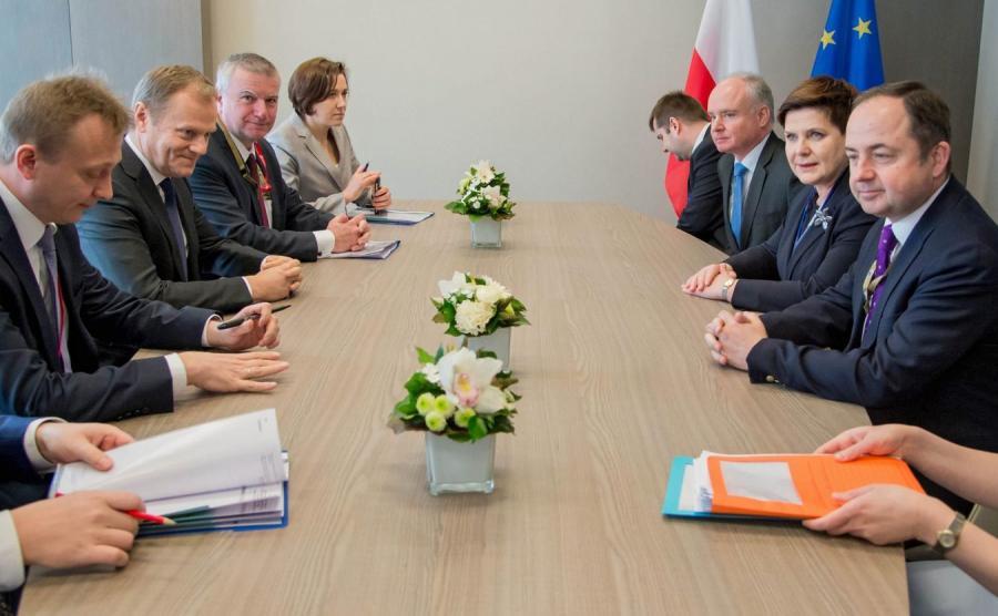 Spotkanie Donalda Tuska z Beatą Szydło
