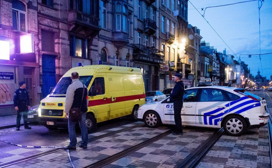 Policja w Brukseli po zamachach terrorystycznych