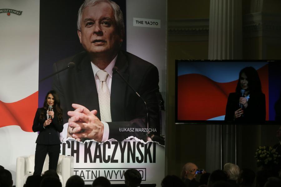 Marta Kaczyńska podczas promocji książki