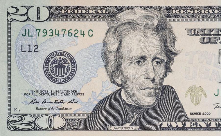 20-dolarówka z Andrew Jacksonem