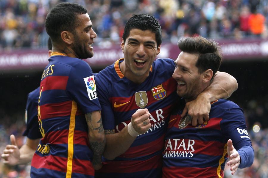Luis Suarez, Lionel Messi i Dani Alves