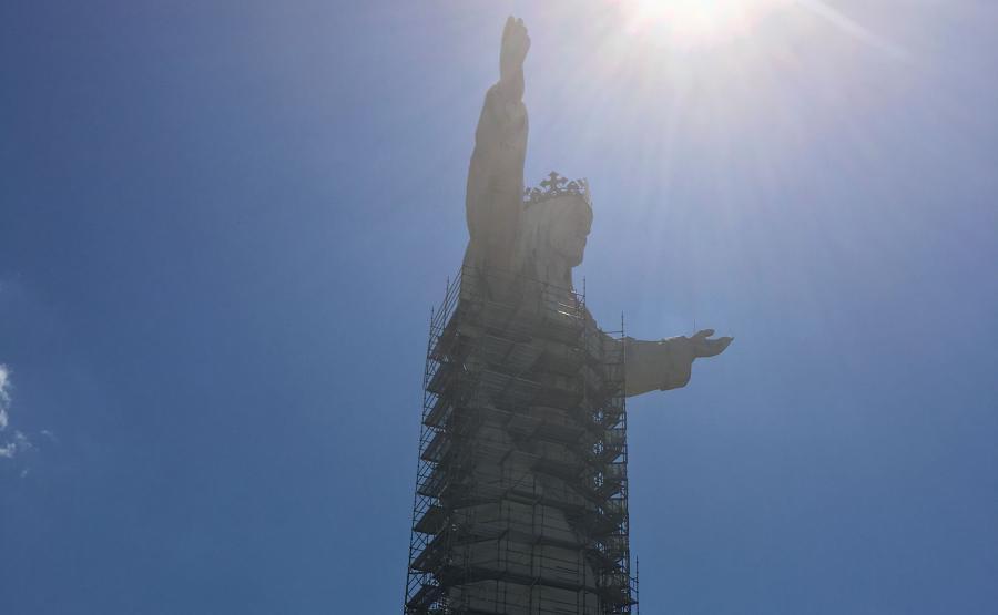Remont pomnika Jezusa ze Świebodzina