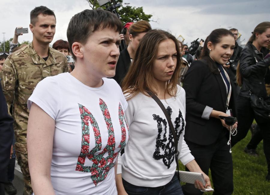 Nadia Sawczenko z siostrą Wierą