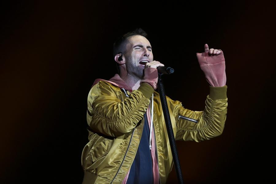 Maroon 5 podczas koncertu na festiwalu Rock in Rio w Lizbonie