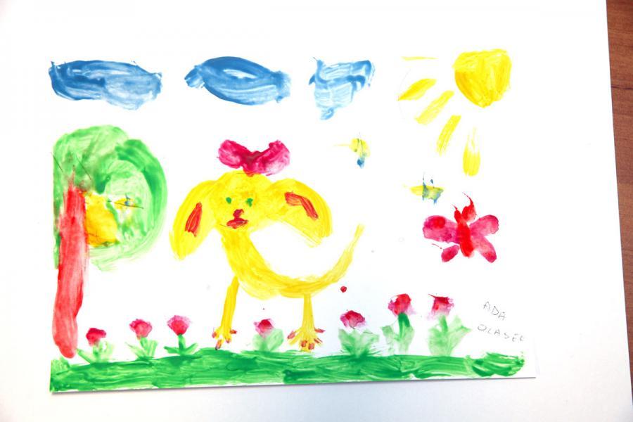 Autor rysunku: Ada Olasek, lat 9