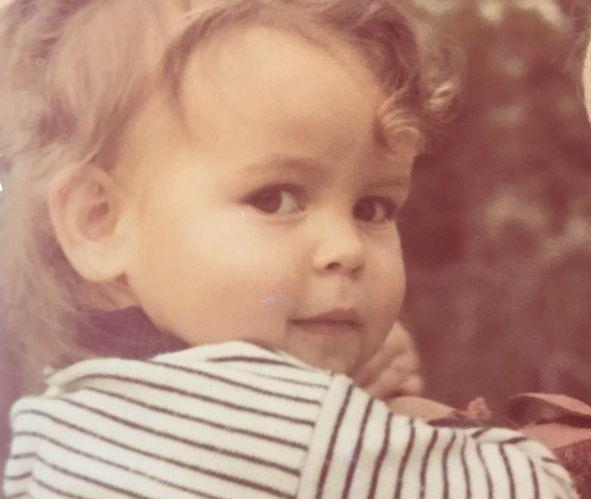 Anna Mucha w dzieciństwie