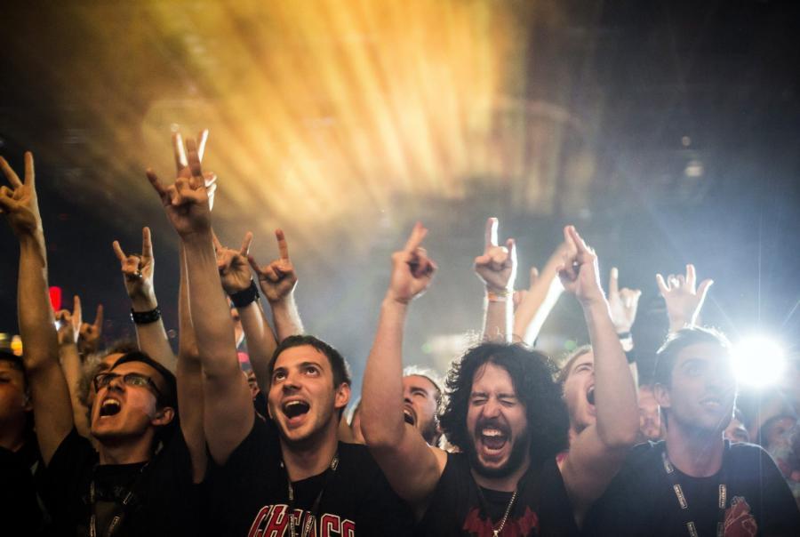 Fani Black Sabbath na koncercie w Budapeszcie