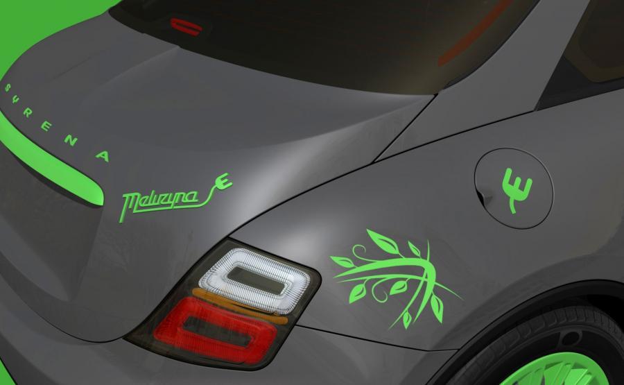 Syrena meluzyna E - pierwsze wizualizacje elektrycznego auta