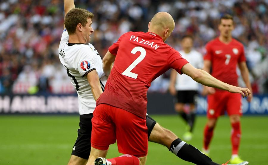 Michał Pazda zagrał znakomity mecz z Niemcami