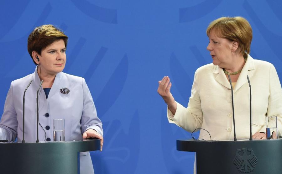Premier Beata Szydło i kanclerz Niemiec Angela Merkel