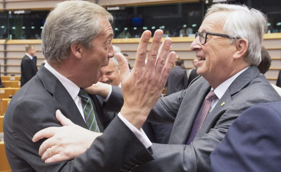 Nigel Farage i Jean-Claude Juncker