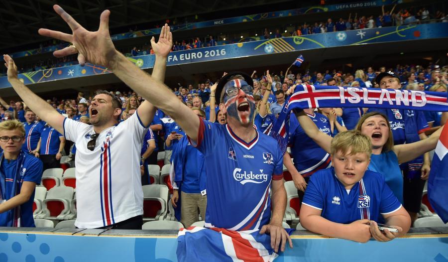 Kibice reprezentacji Islandii