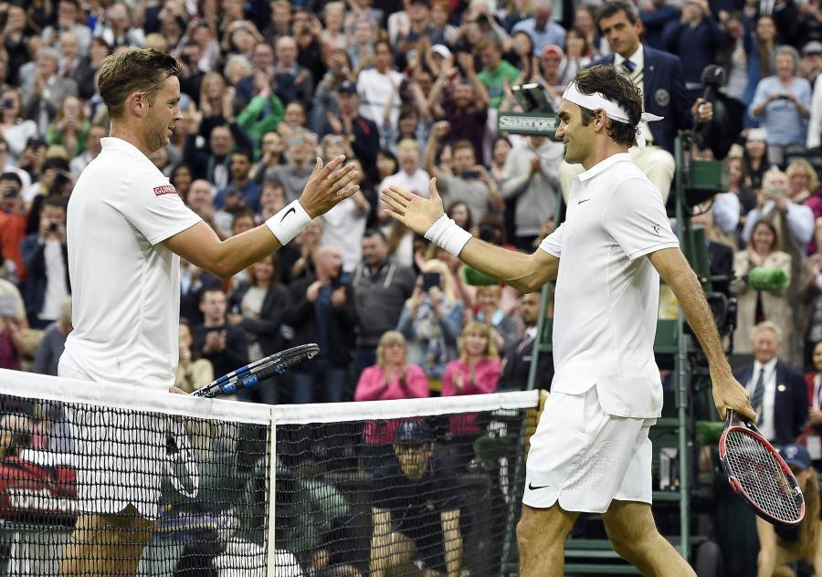 Marcus Willis i Roger Federer
