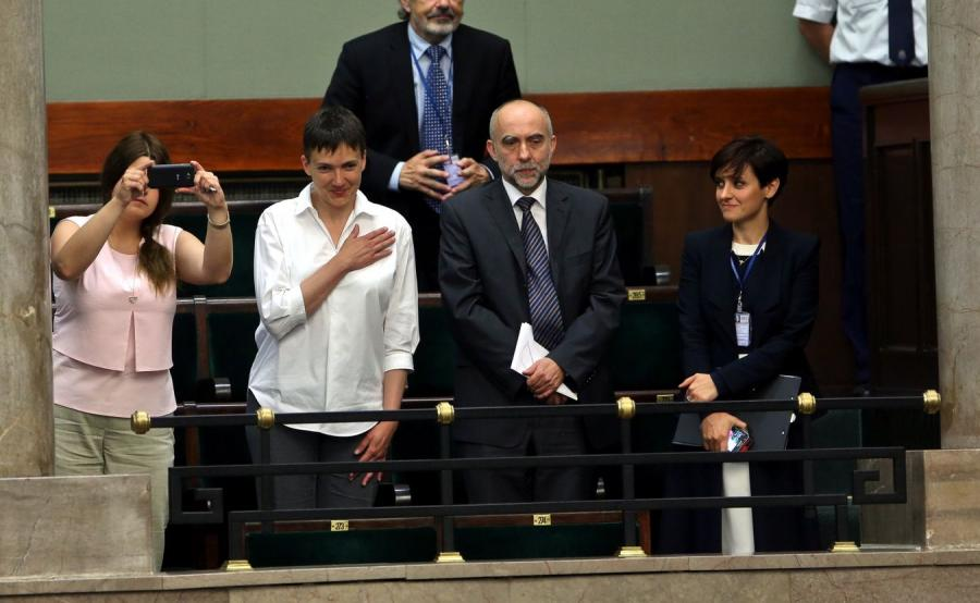Nadia Sawczenko w Sejmie