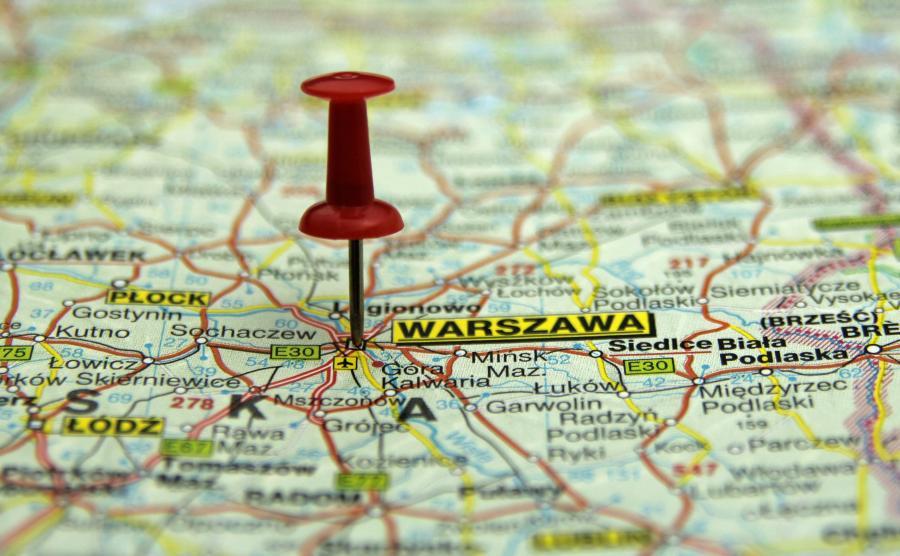 Warszawa na mapie