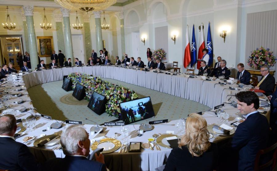 Oficjalna kolacja szefów rządów i głów państw w Pałacu Prezydenckim w Warszawie