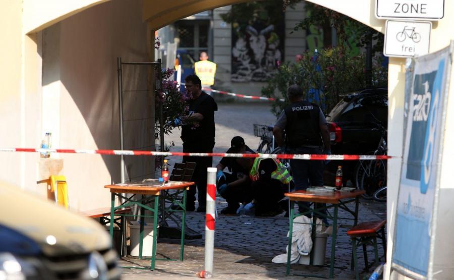 Miejsce eksplozji w Ansbach