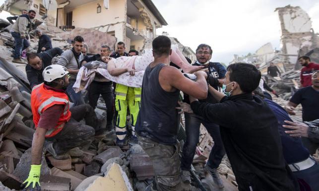 Trzęsienie ziemi we Włoszech. \