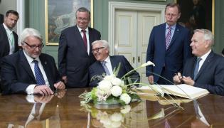 Ministrowie spraw zagranicznych Polski, Niemiec i Francji