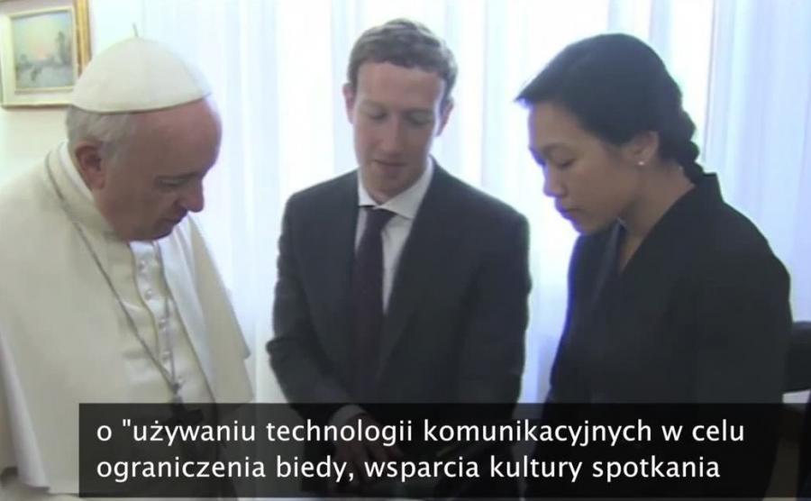 Franciszek, Mark Zuckerberg i Priscilla Chan
