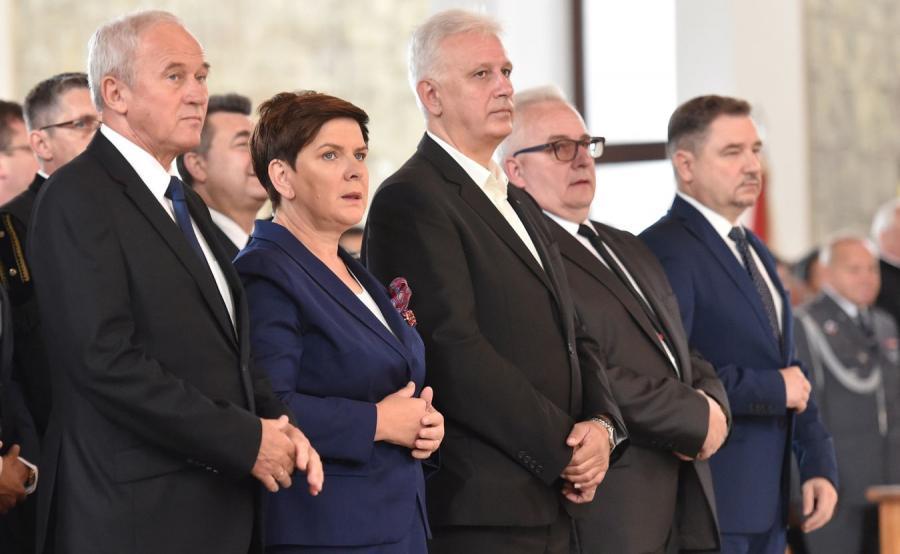 Minister Krzysztof Tchórzewski (pierwszy z lewej)
