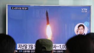 Test północnokoreańskiej rakiety