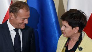 Szef Rady Europejskiej Donald Tusk i premier Beata Szydło