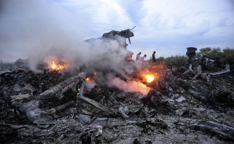 Wrak samolotu malezyjskich linii pasażerskich zestrzelonego nad wschodnią Ukrainą