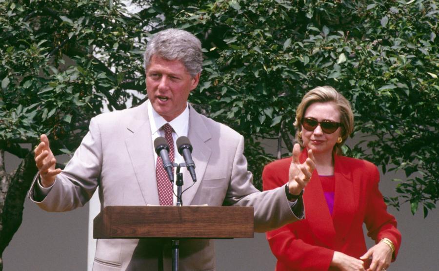 Bill i Hillary Clinton w 1993 roku