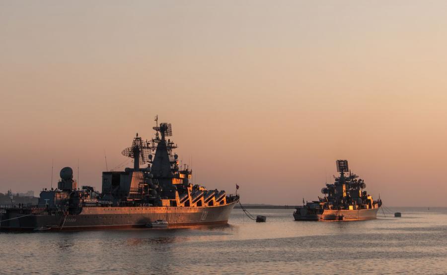Rosyjskie okręty - zdjęcie ilustracyjne