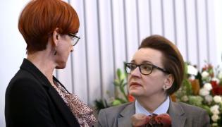 Minister pracy Elżbieta Rafalska i minister edukacji Anna Zalewska
