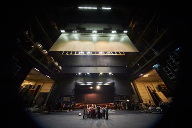 Zaplecze sceny Teatru Wielkiego