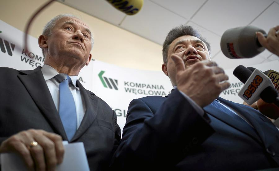 Minister energii Krzysztof Tchórzewski i wiceminister Grzegorz Tobiszowski