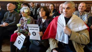 Sąd we Wrocławiu. Publiczność podczas ogłoszenia wyroku