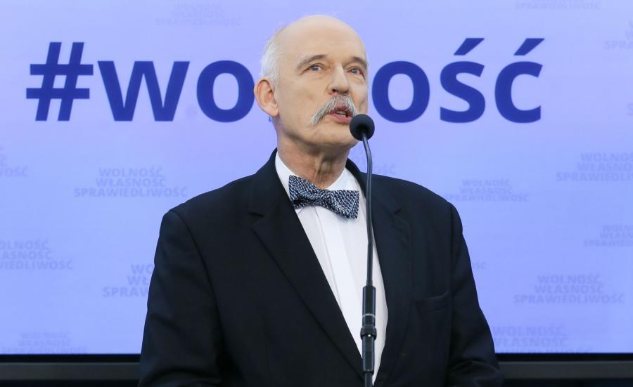 Prezes partii Wolność, europoseł Janusz Korwin-Mikke