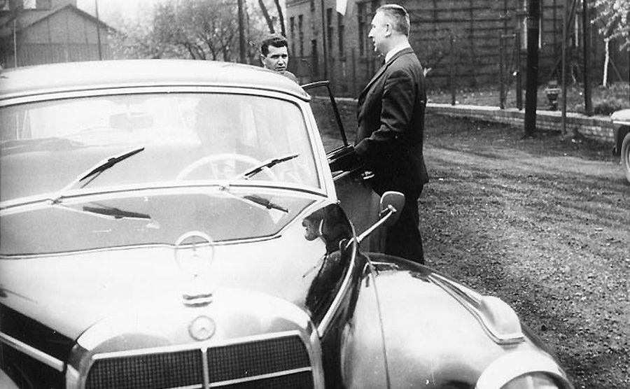 Edward Gierek i Mercedes 300d Adenauer