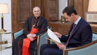 Baszar el-Asad i kardynał Mario Zenari