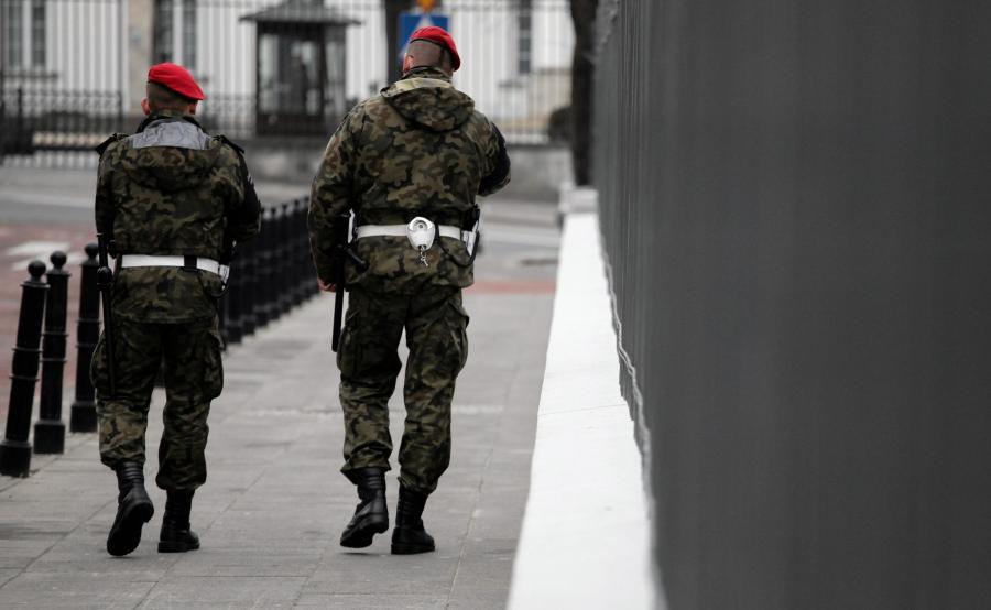 Patrol Żandarmerii Wojskowej w Warszawie