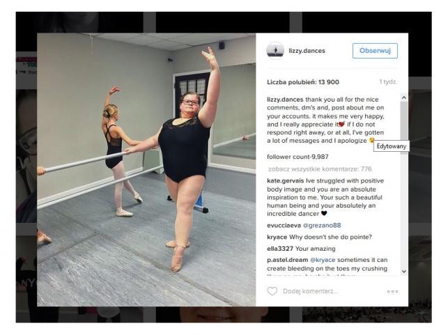 Lizzy baletnica z nadwagą