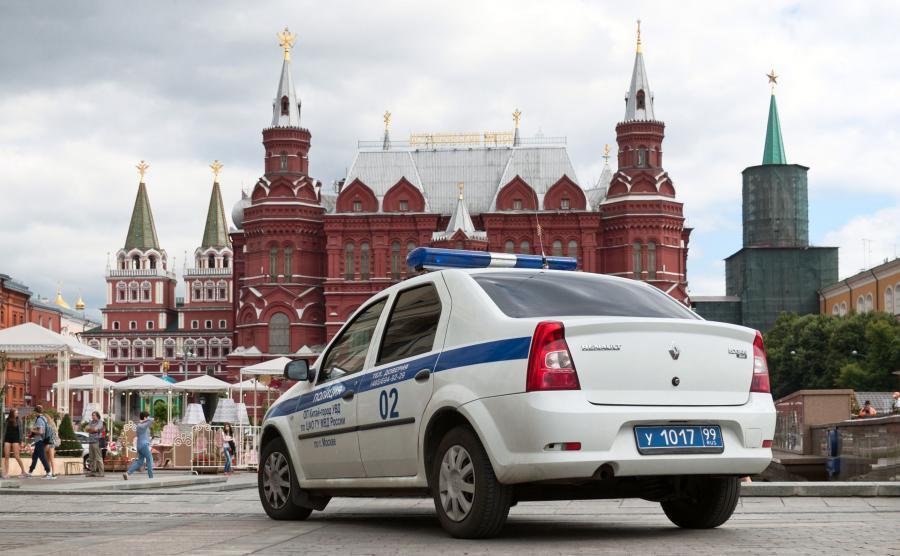 Radiowóz policji w Moskwie