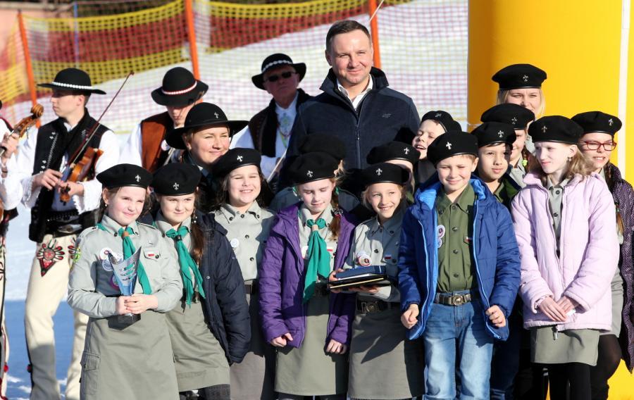 Prezydent z dziećmi