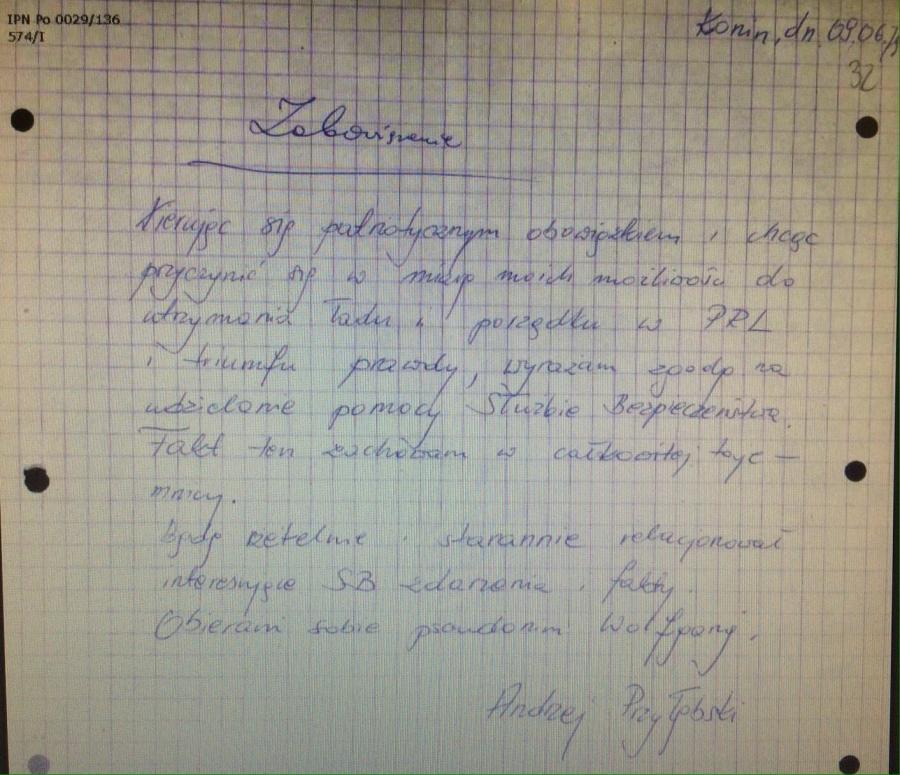 Andrzej Przyłębski, TW \