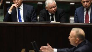 Jarosław Kaczyński i Grzegorz Schetyna w Sejmie